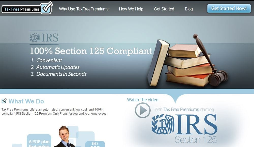 taxfreepremium uses IRS Logo