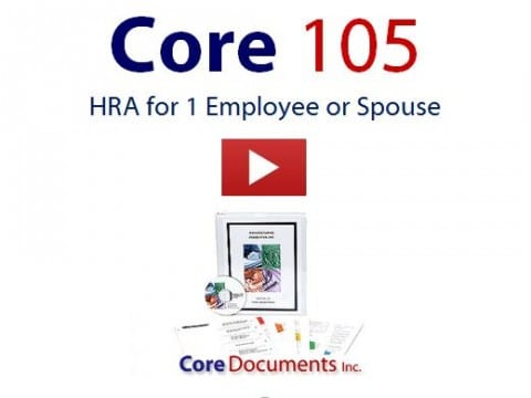 Explains how to set up a Section 105 HRA for 1 employee or spouse