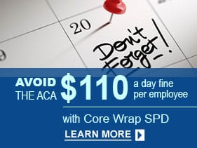 ACA Required Wrap SPD Plan Document for group health plans