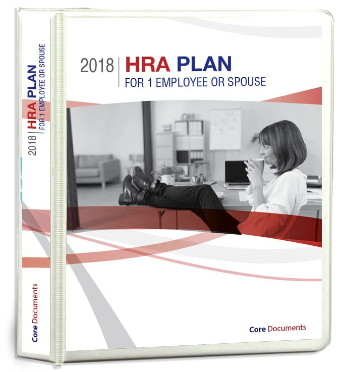 HRA PLAN for 1 Employee or Spouse