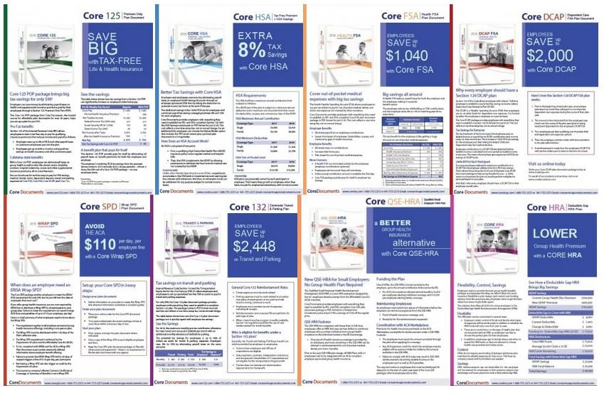 Updated for 2019: Core Documents Product Brochures for Tax-Free