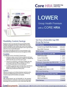 Core HRA Plan Document and Forms Brochure