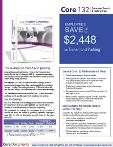 Core Section 132 Transit and Parking FSA Plan Document and Forms Brochure