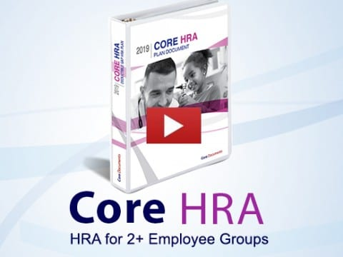 core HRA for 2+ employee groups