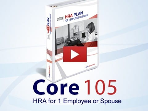 core 105 HRA for 1 employee or spouse