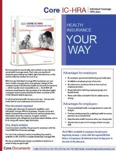 Individual Coverage HRA - ICHRA Plan Document Brochure